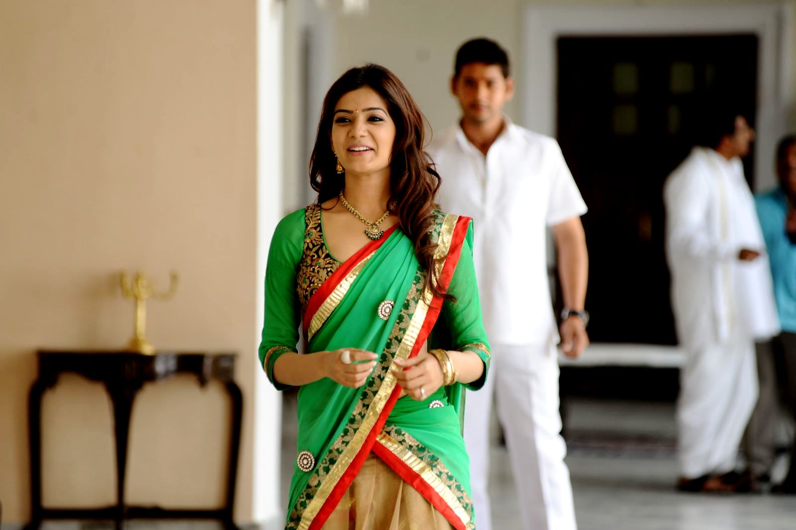 Samantha In Green Saree
