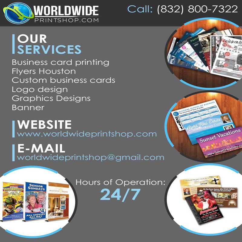 Worldwideprintshop.com  business Cards Houston